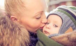 Mama e hijo imagen de archivo