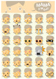 Mama emoji icons Stock Photo