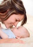 Mama feliz Fotos de archivo libres de regalías