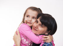 Mama and her little daughter Royalty Free Stock Image