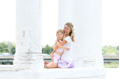 Mama and her little daughter Stock Photography