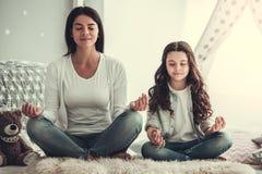Mama i córka Zdjęcie Royalty Free