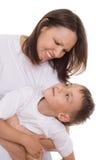 Mama i dziecko obraz stock