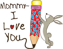 Mama I houdt van u Stock Fotografie
