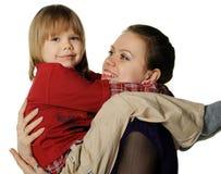 Mama mit dem Sohn Lizenzfreie Stockbilder