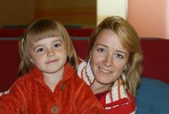 Mama mit einer Tochter Lizenzfreie Stockfotos