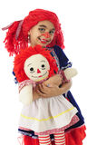 Mama Rag Doll with Her Baby Royalty Free Stock Images