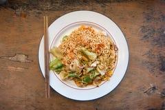 Mama Smażący Chmielny morze, Thaifood w Chiang Mai zdjęcie stock