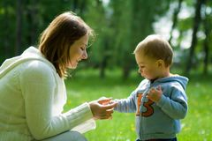 Mama and son Stock Photography
