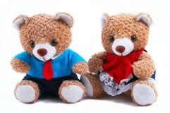 Mama-u. Vati-Teddybären Lizenzfreies Stockfoto