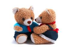 Mama-u. Vati-Teddybären Stockbild