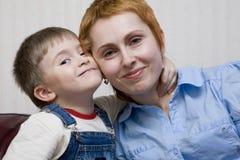Mama und der Sohn Stockfotografie