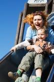 Mama und der Sohn Lizenzfreie Stockbilder