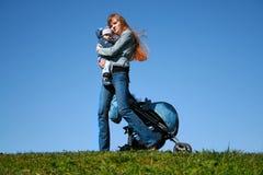 Mama und Kind Stockbild