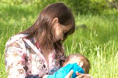 Mama und Kind Lizenzfreie Stockbilder