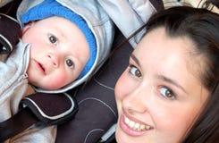 Mama und Schätzchen! Lizenzfreie Stockfotos