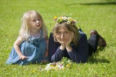 Mama und Tochter Stockbilder