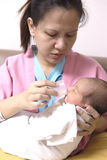Mama y bebé Imagen de archivo