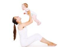 Mama y bebé fotografía de archivo