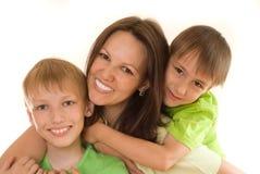 Mama y niños fotografía de archivo libre de regalías