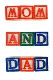 Mama y papá Fotografía de archivo