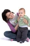 Mama y pequeño bebé Imagen de archivo