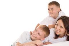 Mama z dwa dziećmi fotografia royalty free