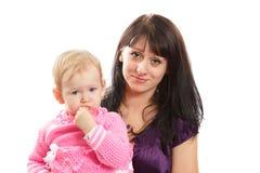 Mama z jej dzieckiem Zdjęcia Royalty Free