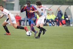 Mamadou Tounkara training with F.C Barcelona youth team against Gimnastic de Tarragona at Ciutat Esportiva Joan Gamper Stock Image