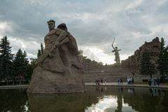 Mamaev库尔干纪念碑 伏尔加格勒,俄国 库存图片
