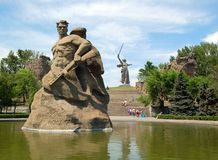 Mamaev Kurgan. Memorial royalty free stock image