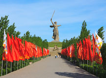 Mamaev Kurgan aos heróis da batalha de Stalingrad em Volgograd Fotos de Stock Royalty Free