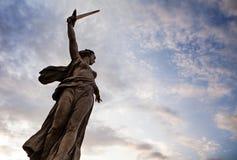 Mamaev Kurgan drugiej wojny światowa rosjanina pomnik Zdjęcia Stock