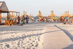 Mamaia海滩 库存照片