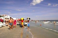 在黑海的Mamaia海滩 免版税库存图片