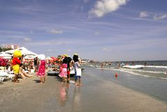 Mamaia Beach at the Black Sea Royalty Free Stock Photo