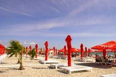 Mamaia Beach at the Black Sea Royalty Free Stock Image