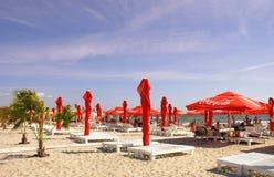 Mamaia Beach at the Black Sea Stock Photos