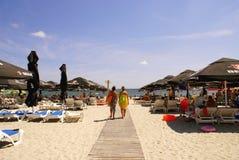 Mamaia Beach at the Black Sea Royalty Free Stock Photography