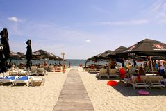 Mamaia Beach at the Black Sea Stock Photos