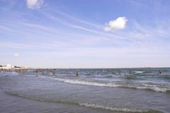 Mamaia Beach at the Black Sea Royalty Free Stock Photo