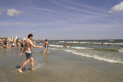 Mamaia Beach at the Black Sea Stock Photography