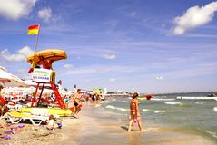 Mamaia Beach at the Black Sea Royalty Free Stock Photography