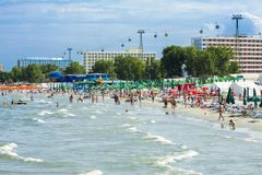 Mamaia beach, Romania Royalty Free Stock Image