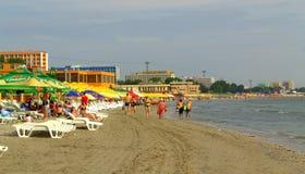Mamaia beach ,Romania Stock Image