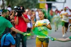 MAMAIA, CONSTANTA, ROMANIA - JULY 26: Mamaia color run 2014, in Royalty Free Stock Photography