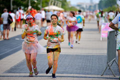 MAMAIA, CONSTANTA, ROMANIA - JULY 26: Mamaia color run 2014, in Stock Image