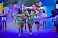 MAMAIA, CONSTANTA, ROMANIA - JULY 26: Mamaia color run 2014, in Stock Images