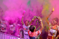 MAMAIA, CONSTANTA, ROMANIA - JULY 26: Mamaia color run 2014, in Stock Photo