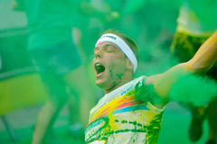 MAMAIA, CONSTANTA, ROMANIA - JULY 26: Mamaia color run 2014, in Royalty Free Stock Photo